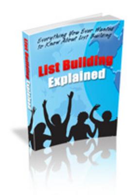 Product picture Listbuilding Explained